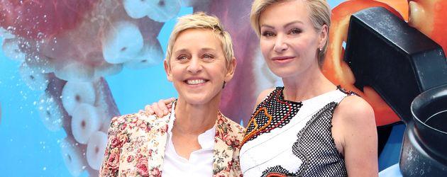 "Ellen Degeneres und Portia de Rossi bei der Londoner Premiere von ""Finding Dory"""
