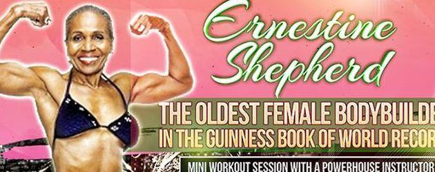 Ernestine Shepherd im Guinness-Buch der Rekorde