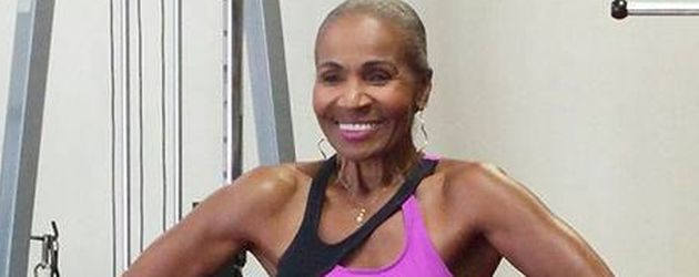 Ernestine Shepherd im Fitnessstudio