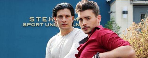 """Schauspieler Francisco Medina und Bela Klentze am """"AWZ""""-Set"""