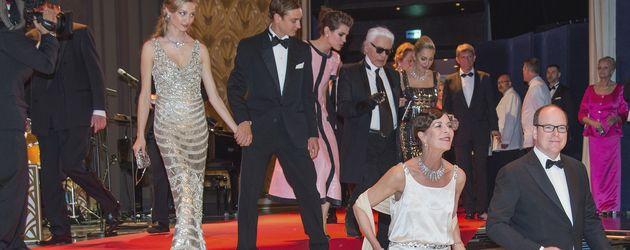 Albert II von Monaco, Pierre Casiraghi, Charlotte Casiraghi und Caroline von Monaco