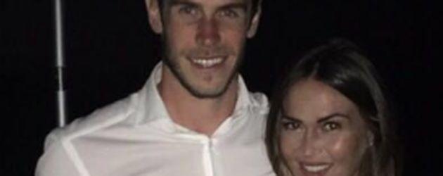 Gareth Bale mit seiner Verlobten Emma Rhys-Jones