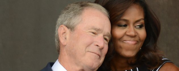 George W. Bush und Michelle Obama in Washington