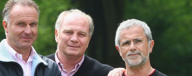 Uli Hoeneß, Gerd Müller und Karl-Heinz Rummenigge