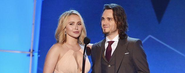 "Hayden Panettiere und ""Nashville""-Kollege Jonathan Jackson bei den ""Critics' Choice Awards"" 2016 in"