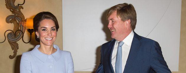 Herzogin Kate und König Willem-Alexander in Den Haag