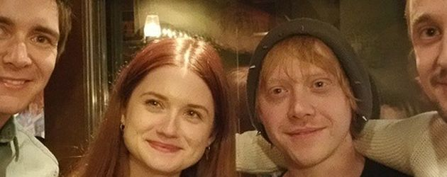 Rupert Grint, Bonnie Wright, James Phelps und Tom Felton