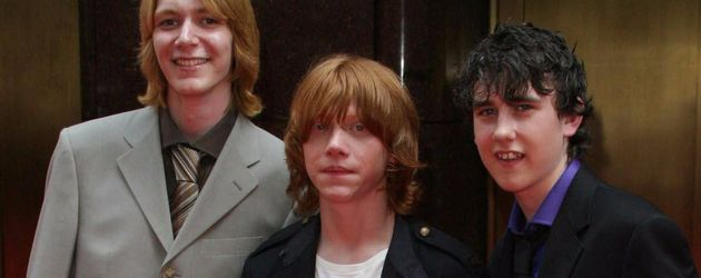 Rupert Grint, James Phelps und Matthew Lewis