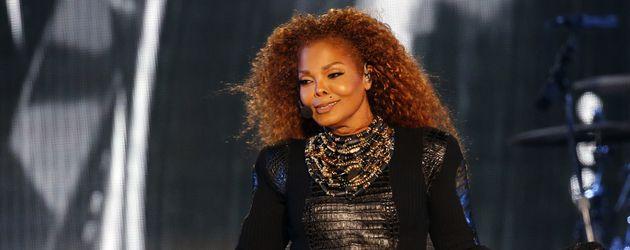 Sängerin Janet Jackson während eines Auftritts in Dubai 2016