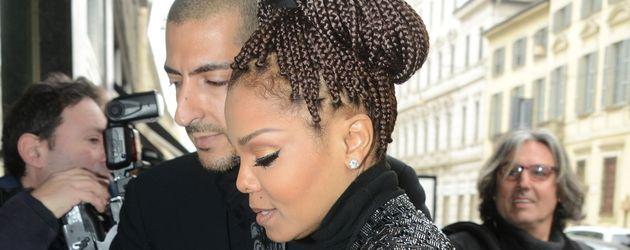 Janet Jackson und Wissam Al Mana im Februar 2013 in Mailand