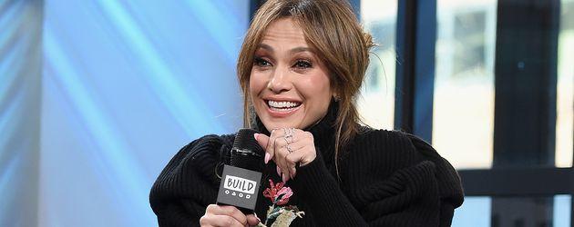 Jennifer Lopez bei einem Gespräch in New York 2017