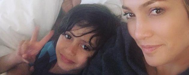 Jennifer Lopez mit ihren beiden Kindern Emme und Maximilian
