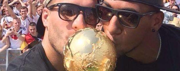 Lukas Podolski und Jérôme Boateng