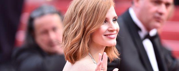 """Jessica Chastain bei der Premiere von """"Cafe Society"""" auf dem Filmfestival Cannes im Mai 2016"""