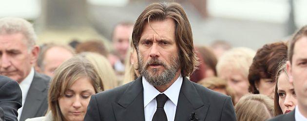 Jim Carrey bei der Beerdigung seiner Ex-Freundin Cathriona White