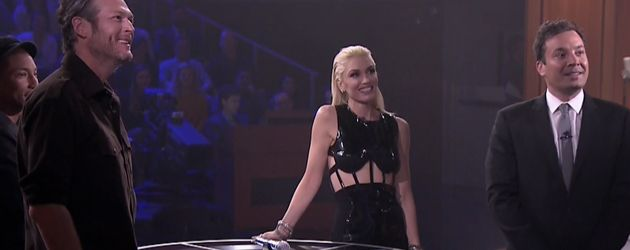 Gwen Stefani, Blake Shelton, Jimmy Fallon und Pharrell Williams