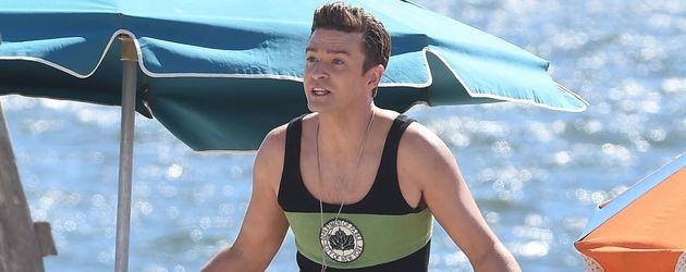 Justin Timberlake an einem Strand in NYC