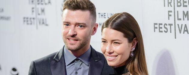 Justin Timperlake und Jessica Biel im April 2016 bei einer Filmpremiere in New York
