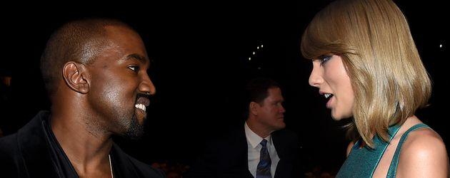 Kanye West und Taylor Swift bei der Grammy-Verleihung 2015