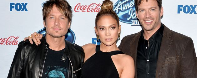 "Keith Urban, Jennifer Lopez und Harry Connick Jr., ""American Idol""-Jury"