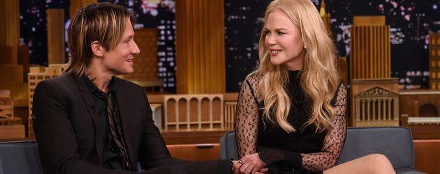 Keith Urban und Nicole Kidman als Gäste in der Tonight Show in New York im November 2016