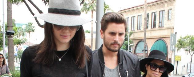 Kendall Jenner, Kourtney Kardashian und Scott Disick
