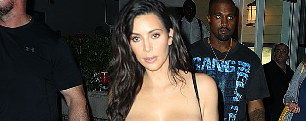 Kim Kardashian und Kanye West nach einem Dinner in Miami