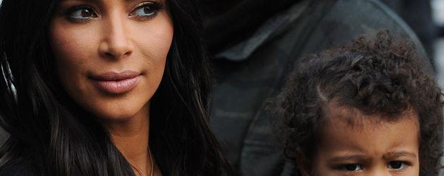Kim Kardashian, Kanye West und ihre Tochter North West