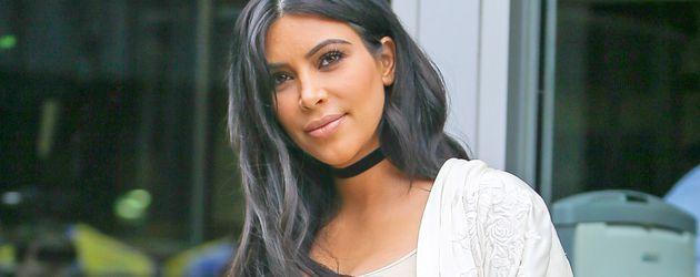 Kim Kardashian während ihrer 2. Schwangerschaft in New York