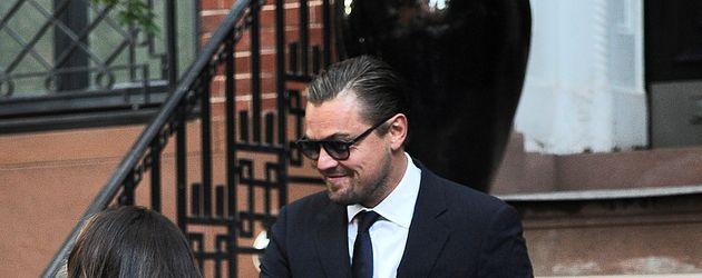 Leonardo DiCaprio beim Verlassen eines Spendendinners von Hilary Clinton in NYC