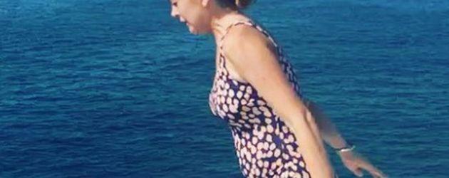 Lindsay Lohan am Meer