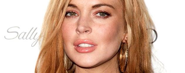 Lindsay Lohan mit wallenden Haaren