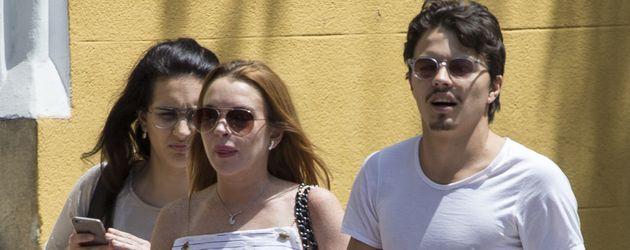 Lindsay Lohan und Egor Tarabasov in Madrid