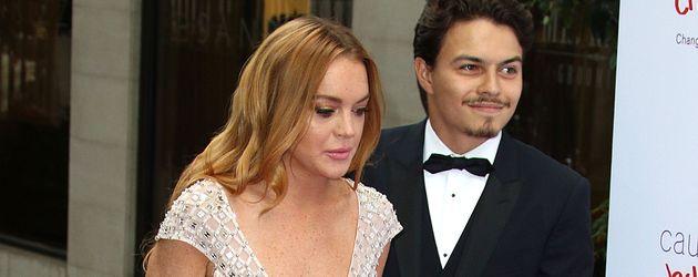 Lindsay Lohan und ihr Freund Egor Tarabasov in London