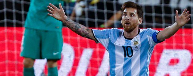 Lionel Messi beim Copa America Finalspiel Chile gegen Argentinien 2016
