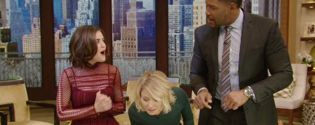 Lucy Hale, Michael Strahan und Kelly Ripa