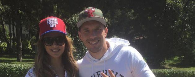 Fußballer Lukas Podolski und Komikerin Enissa Amani