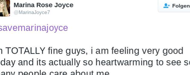 Marina Joyces Twitter-Statement