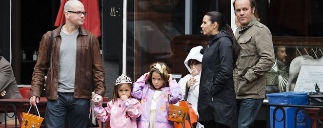 Matt Damon mit seiner Familie in New York