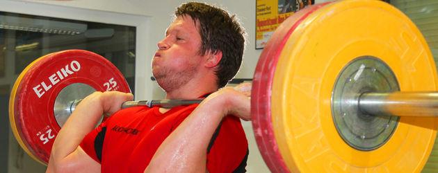 Matthias Steiner mit Gewicht