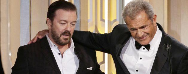 Mel Gibson und Ricky Gervais