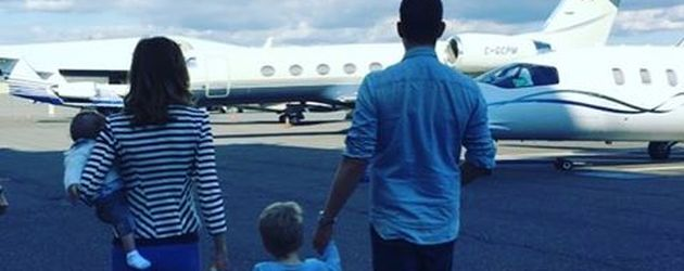 Michael Bublé und Frau Luisana Lopilato mit den beiden Söhnen Elias und Noah im September 2016