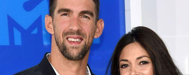 Michael Phelps und seine Verlobte Nicole Johnson bei den VMAs in New York