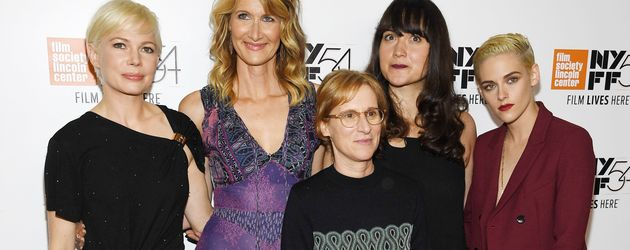 """Der Cast von """"Certain Woman"""" mit Regisseurin Kelly Reichardt auf der Premiere in New York"""