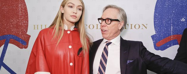 Model Gigi Hadid und Fashion-Designer Tommy Hilfiger