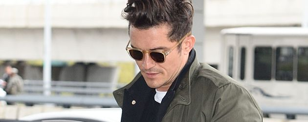 Orlando Bloom am JFK in New York