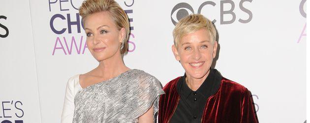 Portia de Rossi und Ellen DeGeneres bei den People's Choice Awards 2017