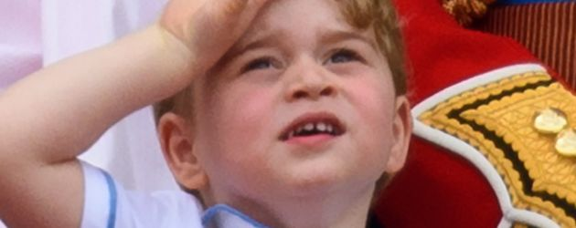 "Prinz George schaut bei der ""Trooping The Colour""-Parade zu"