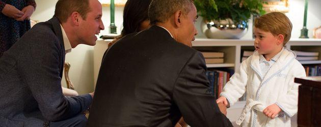Prinz George trifft Barack Obama