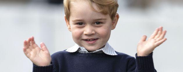 Prinz George bei seiner Verabschiedung in Kanada